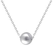 Колье с гладким шаром из серебра 925 пробы