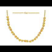 Колье с цитринами в огранке Триллион из желтого золота 585 пробы
