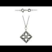 Колье Узорный Квадрат с бриллиантами, белое золото