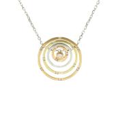 Колье Викс окружности с бриллиантами, красное белое и желтое золото