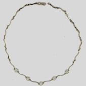 Колье с бриллиантами, белое золото 750 пробы