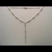 Колье с бриллиантами, белое золото 750 проба