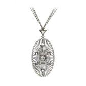 Колье Bellagio с бриллиантами, белое золото 750 пробы
