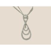Колье Капля с бриллиантами из белого золота 585 пробы