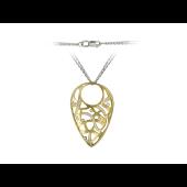 Колье с бриллиантами, комбинированное золото