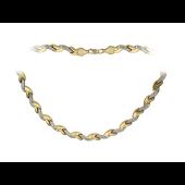 Колье Звенья Ролекс, желтое золото 6 мм