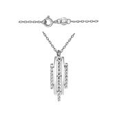 Колье Амелика с алмазными гранями, серебро