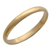 Кольцо обручальное гладкое классическое узкая шинка 2.6 мм, красное золото