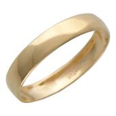 Кольцо обручальное гладкое, красное золото, 585 проба, 3.6 мм