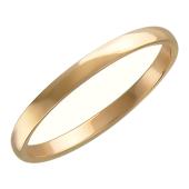 Кольцо обручальное гладкое, красное золото 1.8 мм