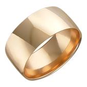 Обручальное кольцо широкое 8 мм, красное золото 585 пробы