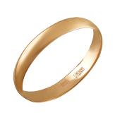 Кольцо обручальное классическое, красное золото 4мм