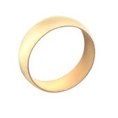 Кольцо обручальное классическое гладкое округлое широкое, красное золото