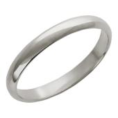 Обручальное кольцо, классика, белое золото 585 пробы ширина шинки 3.1мм