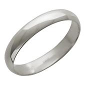 Кольцо обручальное, белое золото 585 пробы ширина шинки 4.0мм