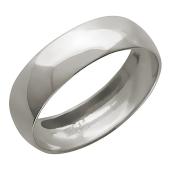Обручальное кольцо гладкое, белое золото 585 пробы 5.2 мм