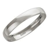 Кольцо обручальное гладкое округлое, белое золото, 585 проба, 2.3 мм