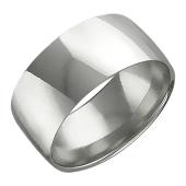 Обручальное кольцо широкое прямое, белое золото 585 пробы 8 mm