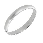 Кольцо обручальное классическое, белое золото 3мм
