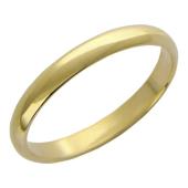 Кольцо обручальное, желтое золото 585 пробы ширина шинки 3.1 мм