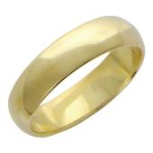 Кольцо обручальное гладкое, шинка 5мм, жёлтое золото