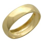 Кольцо обручальное шинка гладкое, желтое золото, 5.2 мм