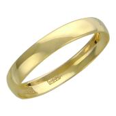 Кольцо обручальное, желтое золото, 585 пробы ширина 2.3мм