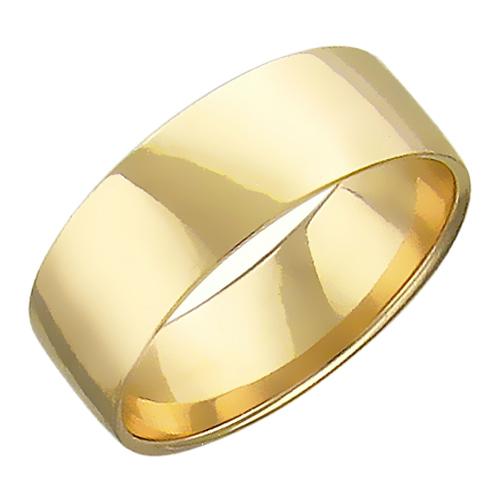 Обручальное кольцо прямое, 6 мм, желтое золото 585 пробы 867095899dd