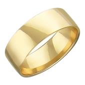 Обручальное кольцо прямое, 6 мм, желтое золото 585 пробы