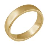 Кольцо обручальное широкое с эффектом матирования, желтое золото 585 проба