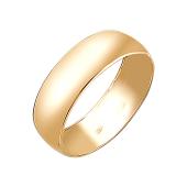 Кольцо обручальное классическое, желтое золото 6мм