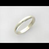Обручальное кольцо классическое гладкое, серебро 3,1мм