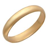 Кольцо обручальное классическое гладкое округлое из серебра с позолотой 3.8мм