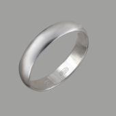 Кольцо обручальное гладкое округлое полновесное, серебро 5мм