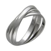 Кольцо обручальное Тринити, серебро 925 проба 2.6мм