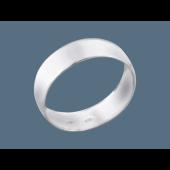 Кольцо обручальное классическое широкое округлое гладкое, серебро 7.5мм