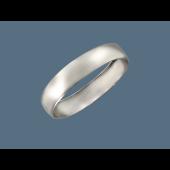 Кольцо обручальное гладкое округлое, серебро 5.2мм