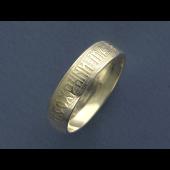 Кольцо обручальное Спаси и Сохрани, серебро 5мм