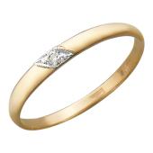 Обручальное кольцо с 1 бриллиантом, красное золото
