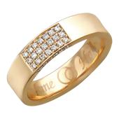 Обручальное кольцо с бриллиантами в прямоугольнике, широкий торец, надпись Вместе Навсегда 4.8мм