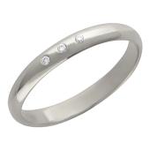 Кольцо с бриллиантами, белое золото, 585 пробы, ширина шинки 3 мм.