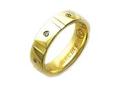 Кольцо обручальное Гайка с бриллиантами, надпись Вместе Навсегда, жёлтое золото 5.5мм