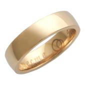 Кольцо обручальное гладкое с широким торцом, гравировка Вместе Навсегда, красное золото h=5.5 mm
