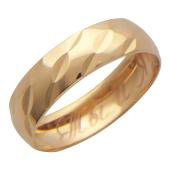 Кольцо с гравировкой Ты и Я, с алмазной огранкой, красное золото, ширина 4мм