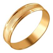 Кольцо обручальное с насечками из красного золота 5мм