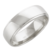 Обручальное кольцо, гравировка Вместе Навсегда с двумя желобками 7.3 мм