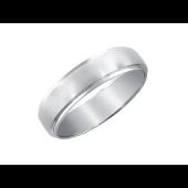 Кольцо обручальное с матированием из белого золота 585 пробы