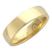 Кольцо обручальное гладкое с широким торцом, Вместе Навсегда, желтое золото h=5.5 mm