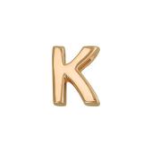 Кулон Викс буква К, латинская K, красное золото