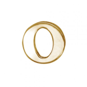 Кулон Викс буква О, латинская O, красное золото